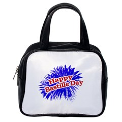 Happy Bastille Day Graphic Logo Classic Handbags (One Side)