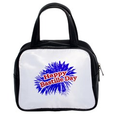 Happy Bastille Day Graphic Logo Classic Handbags (2 Sides)