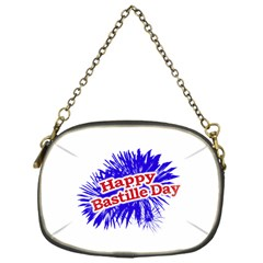 Happy Bastille Day Graphic Logo Chain Purses (One Side)