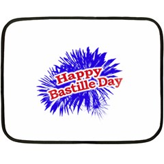 Happy Bastille Day Graphic Logo Fleece Blanket (Mini)