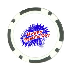 Happy Bastille Day Graphic Logo Poker Chip Card Guard (10 pack)