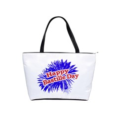 Happy Bastille Day Graphic Logo Shoulder Handbags