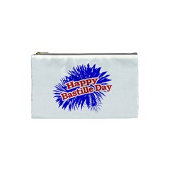 Happy Bastille Day Graphic Logo Cosmetic Bag (Small)