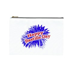 Happy Bastille Day Graphic Logo Cosmetic Bag (Large)