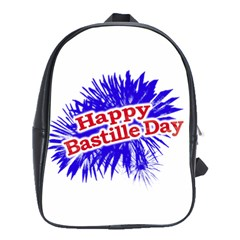 Happy Bastille Day Graphic Logo School Bags(Large)