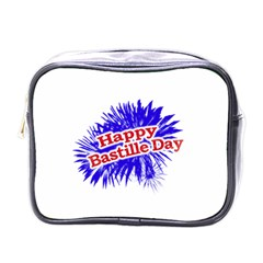 Happy Bastille Day Graphic Logo Mini Toiletries Bags