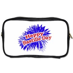 Happy Bastille Day Graphic Logo Toiletries Bags 2 Side