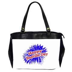 Happy Bastille Day Graphic Logo Office Handbags (2 Sides)