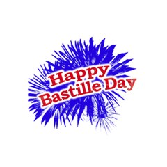 Happy Bastille Day Graphic Logo 5.5  x 8.5  Notebooks