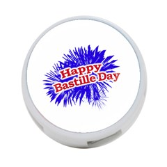 Happy Bastille Day Graphic Logo 4-Port USB Hub (Two Sides)