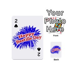 Happy Bastille Day Graphic Logo Playing Cards 54 (Mini)