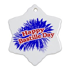 Happy Bastille Day Graphic Logo Snowflake Ornament (Two Sides)