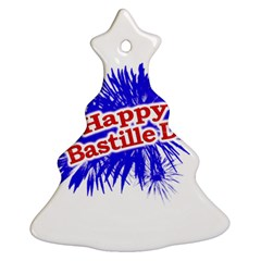 Happy Bastille Day Graphic Logo Christmas Tree Ornament (Two Sides)