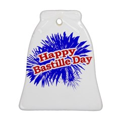 Happy Bastille Day Graphic Logo Bell Ornament (Two Sides)
