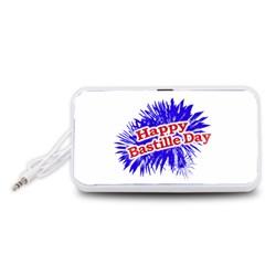 Happy Bastille Day Graphic Logo Portable Speaker (White)