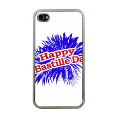 Happy Bastille Day Graphic Logo Apple iPhone 4 Case (Clear)