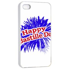 Happy Bastille Day Graphic Logo Apple iPhone 4/4s Seamless Case (White)
