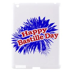 Happy Bastille Day Graphic Logo Apple iPad 3/4 Hardshell Case (Compatible with Smart Cover)