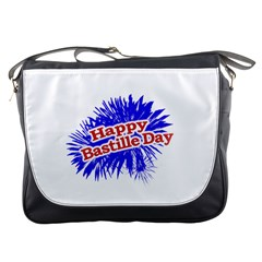 Happy Bastille Day Graphic Logo Messenger Bags