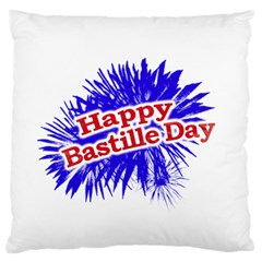 Happy Bastille Day Graphic Logo Large Cushion Case (Two Sides)