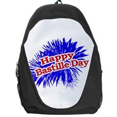 Happy Bastille Day Graphic Logo Backpack Bag