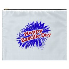 Happy Bastille Day Graphic Logo Cosmetic Bag (XXXL)