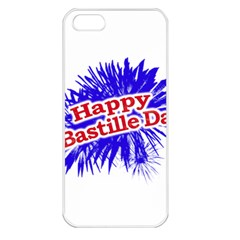 Happy Bastille Day Graphic Logo Apple iPhone 5 Seamless Case (White)