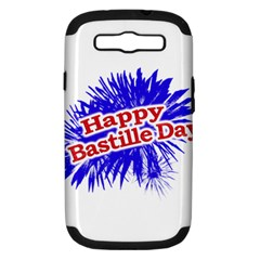 Happy Bastille Day Graphic Logo Samsung Galaxy S III Hardshell Case (PC+Silicone)