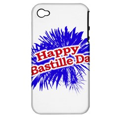 Happy Bastille Day Graphic Logo Apple Iphone 4/4s Hardshell Case (pc+silicone)