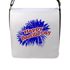 Happy Bastille Day Graphic Logo Flap Messenger Bag (L)
