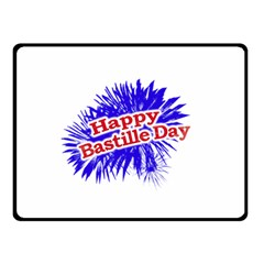 Happy Bastille Day Graphic Logo Double Sided Fleece Blanket (Small)