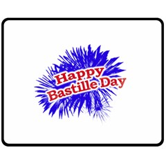 Happy Bastille Day Graphic Logo Double Sided Fleece Blanket (Medium)