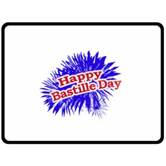 Happy Bastille Day Graphic Logo Double Sided Fleece Blanket (Large)