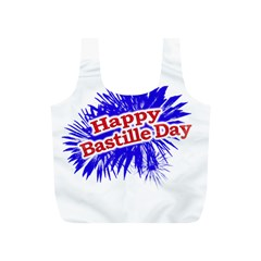 Happy Bastille Day Graphic Logo Full Print Recycle Bags (S)