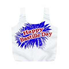 Happy Bastille Day Graphic Logo Full Print Recycle Bags (M)