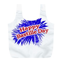 Happy Bastille Day Graphic Logo Full Print Recycle Bags (L)