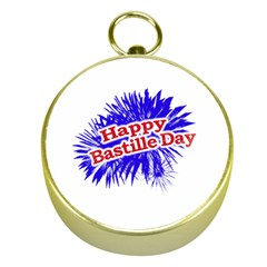 Happy Bastille Day Graphic Logo Gold Compasses