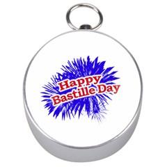 Happy Bastille Day Graphic Logo Silver Compasses