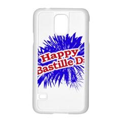 Happy Bastille Day Graphic Logo Samsung Galaxy S5 Case (White)