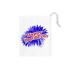 Happy Bastille Day Graphic Logo Drawstring Pouches (Small)
