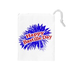 Happy Bastille Day Graphic Logo Drawstring Pouches (Medium)