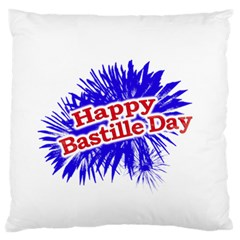 Happy Bastille Day Graphic Logo Standard Flano Cushion Case (Two Sides)