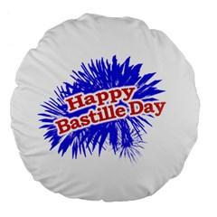 Happy Bastille Day Graphic Logo Large 18  Premium Flano Round Cushions