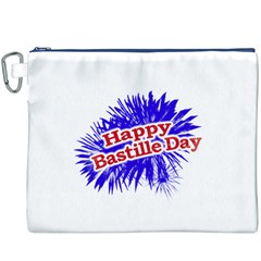 Happy Bastille Day Graphic Logo Canvas Cosmetic Bag (XXXL)