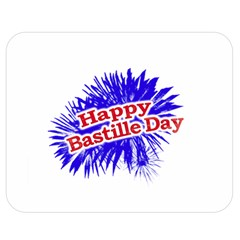 Happy Bastille Day Graphic Logo Double Sided Flano Blanket (Medium)