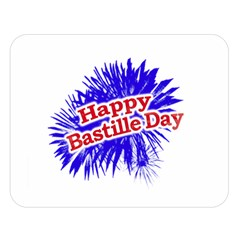 Happy Bastille Day Graphic Logo Double Sided Flano Blanket (Large)