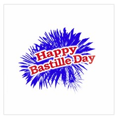 Happy Bastille Day Graphic Logo Large Satin Scarf (Square)
