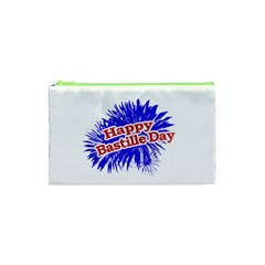 Happy Bastille Day Graphic Logo Cosmetic Bag (XS)