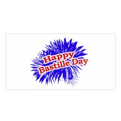 Happy Bastille Day Graphic Logo Satin Shawl