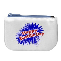 Happy Bastille Day Graphic Logo Large Coin Purse